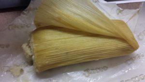 tamale with corn husk